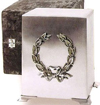 Pewter Wreath Cube