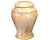 Teak Bell Jar Urn Keepsake