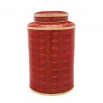 Red Rosette Cloisonnè