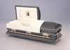 Burnished Silver 18 Gauge Steel Casket