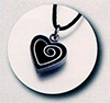 Enameled Pewter Black Heart