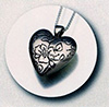 Floral Heart Silver