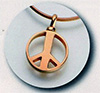 Peace Sign Gold