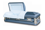 Burial Caskets: Monarch Blue