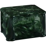 Cultured Marble Dark Emerald