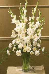 Order flowers gifts online duggans serra funeral home ct34 21 white floral arrangement in vase mightylinksfo